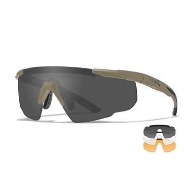 Баллистические очки 308T SABER ADV Smoke/Clear/Rust Tan Frame