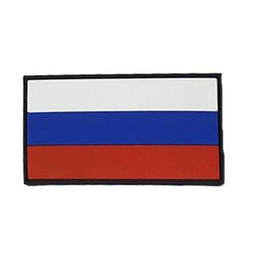 Патч ПВХ Флаг России (50х90 мм) - фото 20579