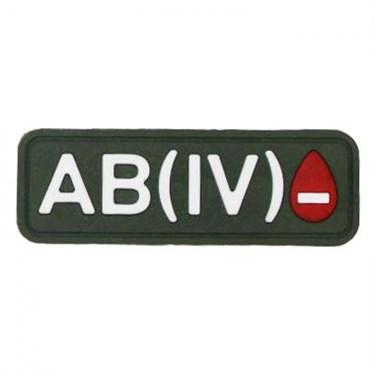 """Патч ПВХ """"Группа крови"""" AB (IV) Rh- - фото 20595"""