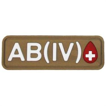 """Патч ПВХ """"Группа крови"""" AB (IV) Rh+ - фото 20600"""