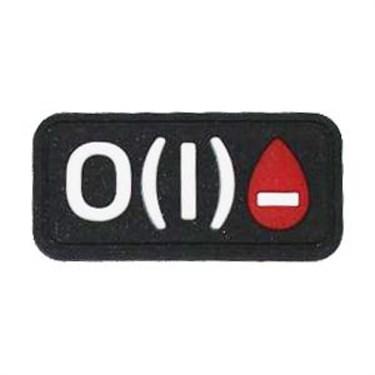 """Патч ПВХ """"Группа крови"""" O (I) Rh- - фото 20615"""