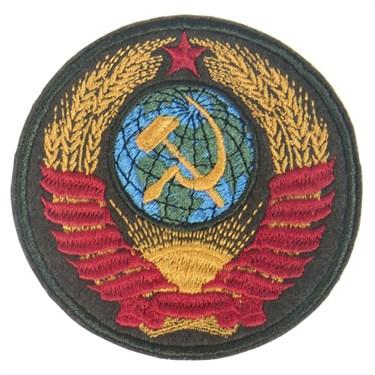 """Патч """"Герб СССР"""" (80х80 мм) - фото 20624"""