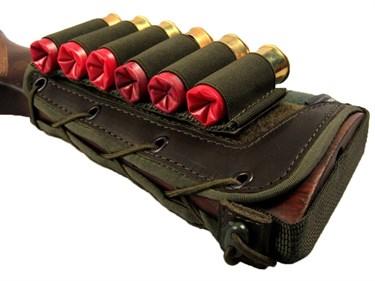Патронташ на приклад на 6 патронов (12-16 кбр) ЛАЙТ - фото 21605