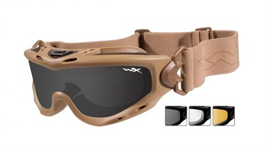 Тактическая маска WX SPEAR SP293T. Оправа TAN, 3 вида линз. - фото 21999